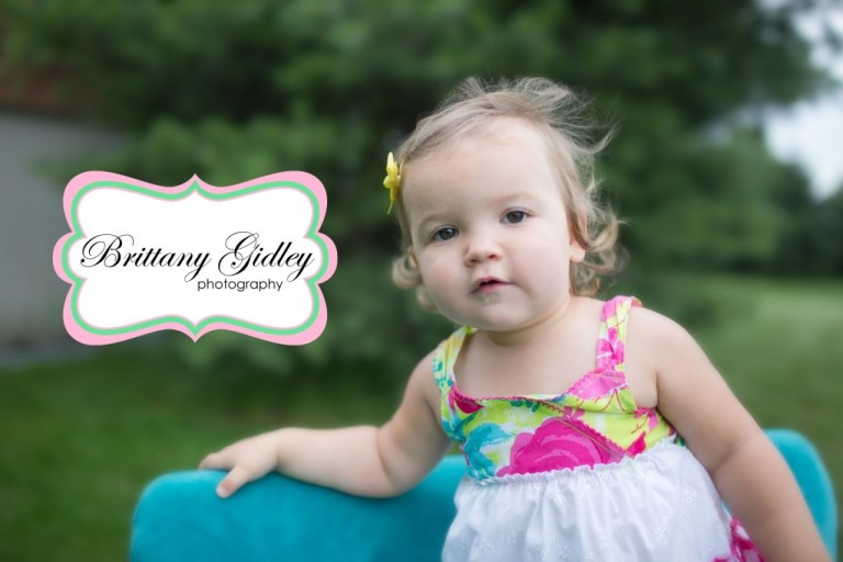 Toddler Photographer   18 Months   Teal Couch   Country Chic   Brittany Gidley Photography LLC