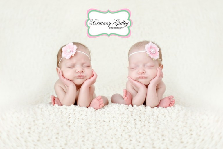Details | Twins | Newborns  | Brown Pink Cream | Brittany Gidley Photography LLC