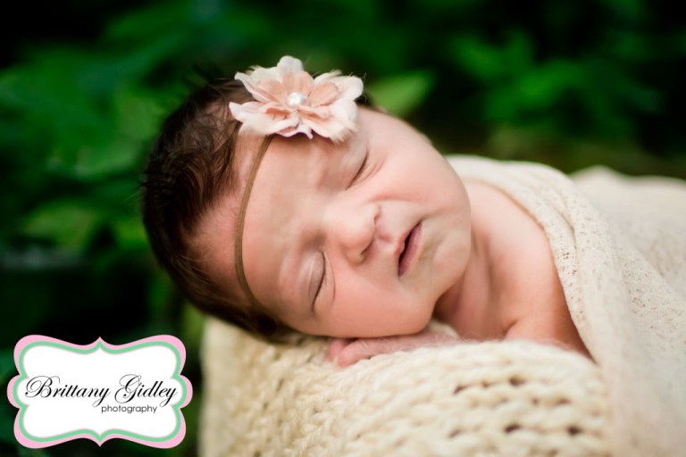 Outdoor Baby | Baby Girl | Lace | River | Natural Baby | Nature | Brittany Gidley Photography LLC