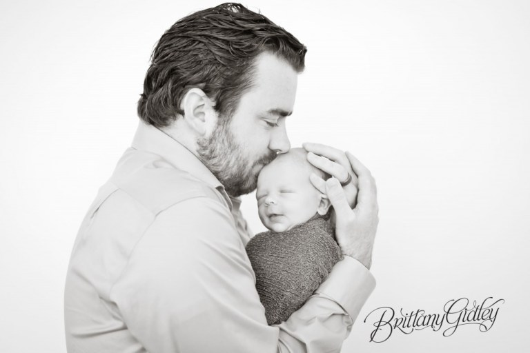 Newborn Boy | Black & White | Infant | Brittany Gidley Photography LLC | Cleveland OH | Family
