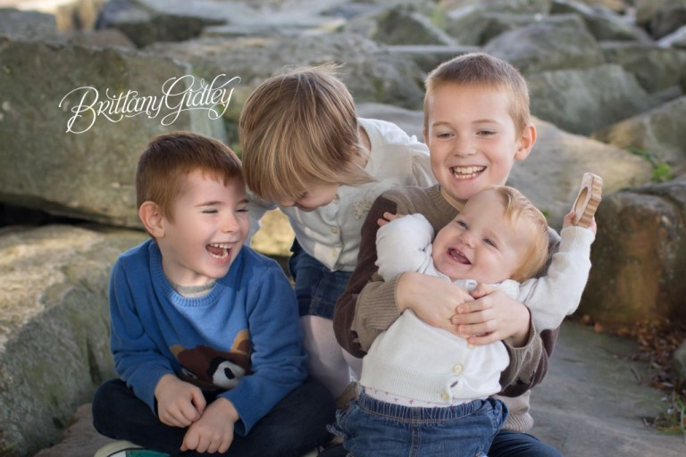 Fun Family Photography | 4 kids | Edgewater Park | Cleveland Ohio | Portraits