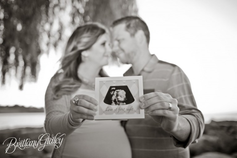 Brittany Gidley Photography LLC | Maternity Posing Inspiration | Posing | Pregnancy | Lake Erie | Shoreline | Adorable