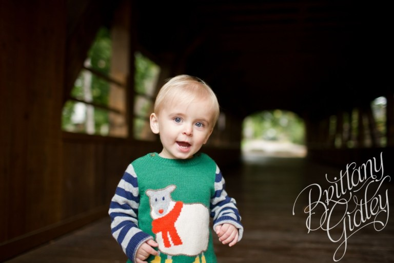 Fortier Park | Covered Bridge | Baby | Brittany Gidley Photography LLC