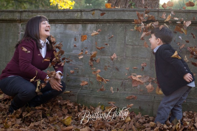 Unique Child Photography | Fall | Autumn | 4 year old and mom | Brittany Gidley Photography LLC