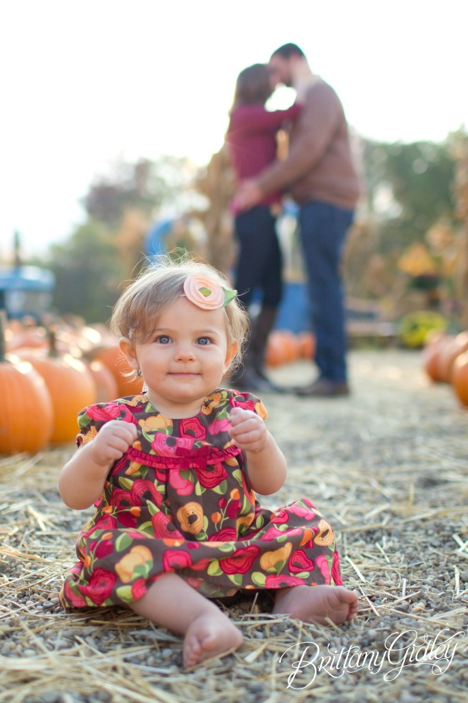 12 Month Baby | Pumpkin Patch | Fall | Autumn | Ohio | Brittany Gidley Photography LLC