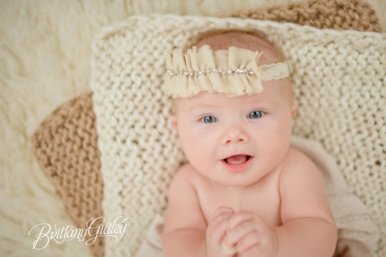 4 Months | Baby | Neutrals | Brittany Gidley Photography LLC