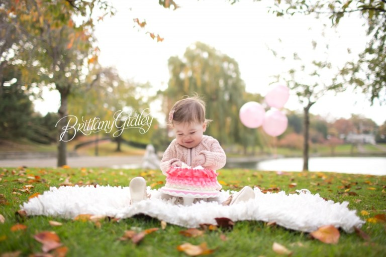 12 Month Photo | Cake Smash | Baby Portraits | Baby Brynn | Cleveland Ohio | Brittany Gidley Photography LLC
