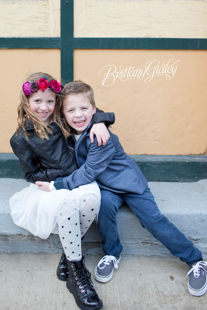 Urban Colorful Fun | Siblings |Family Photographer | Urban Family Photographer | Cleveland Ohio | 44114 | Brittany Gidley Photography LLC