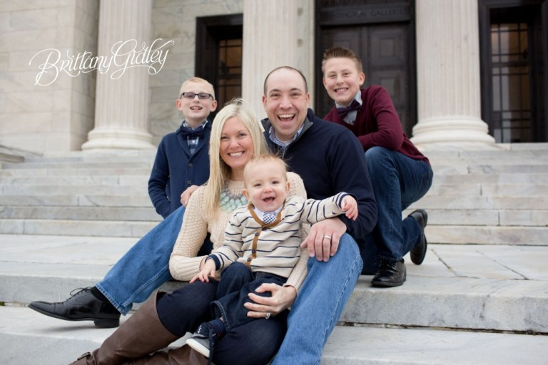 Modern Family Photography | Family of 5 | 3 Boys | Cleveland, OH | Brittany Gidley Photography LLC | Start With The Best
