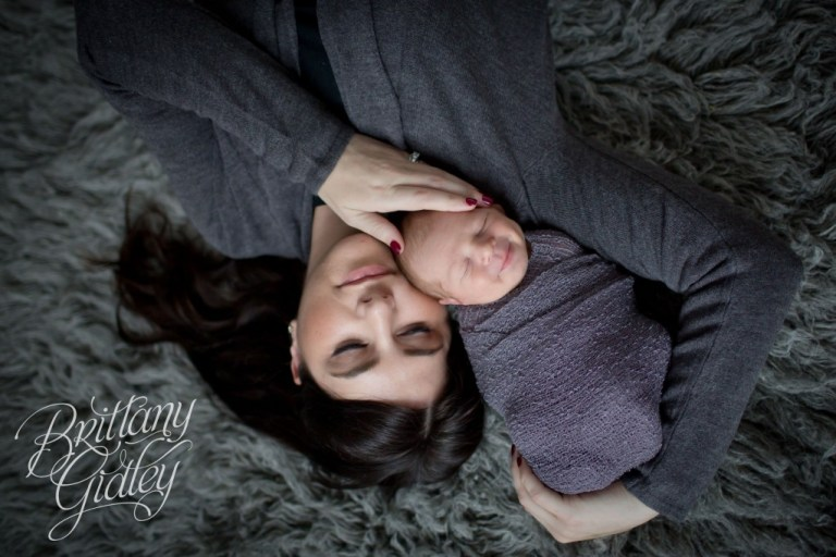 Newborn Studio | Portraits | Baby Photography | Start With The Best | Brittany Gidley Photography LLC | Mother and Child