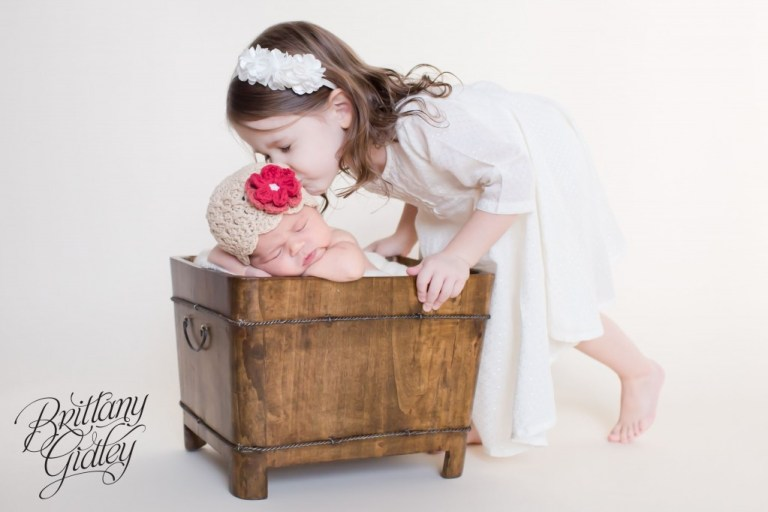 Newborn Baby Girl | Love | Cleveland | Sisters | Start With The Best | Brittany Gidley Photography LLC