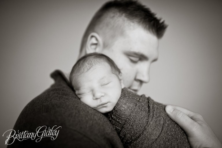 Studio Newborn | Portraits | Baby Photography | Start With The Best | Brittany Gidley Photography LLC | Father and Child