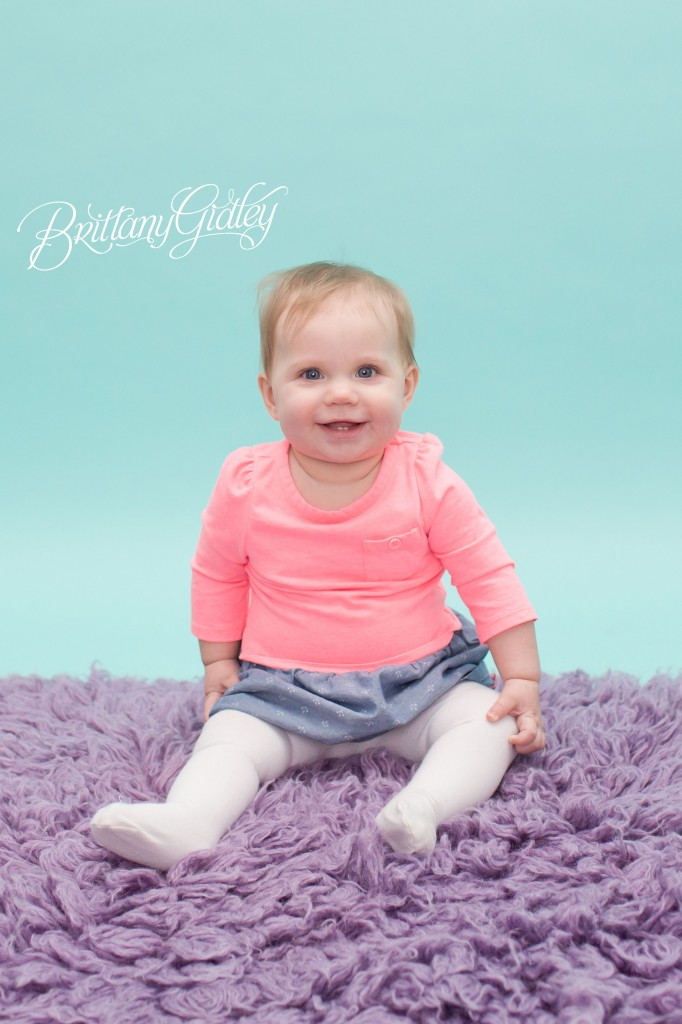 Purple & Teal | Baby Photography | 9 mo | Brittany Gidley Photography LLC