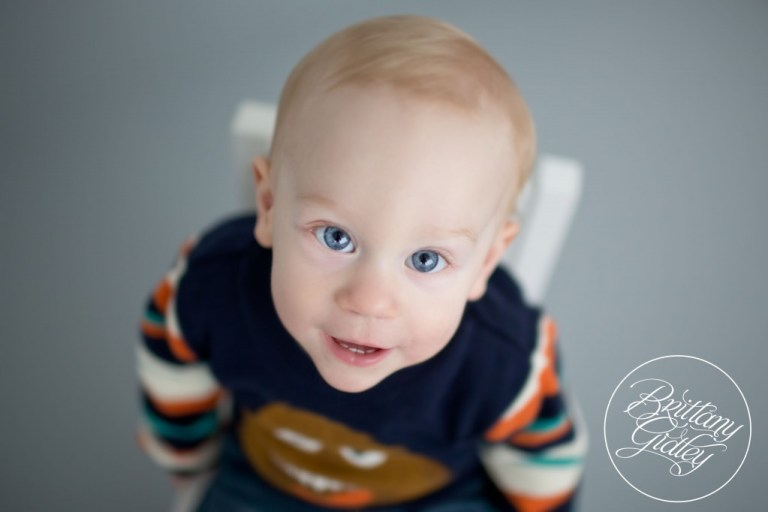 12 Month Old Baby | First Birthday | Studio | Natural Light | Inspiration | Brittany Gidley Photography LLC