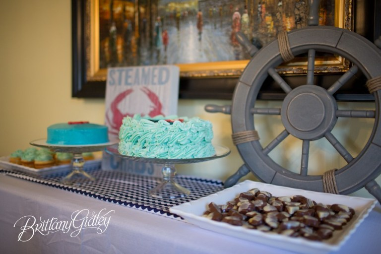 Cake Smash | Nautical Birthday | Start With The Best | Brittany Gidley Photography LLC