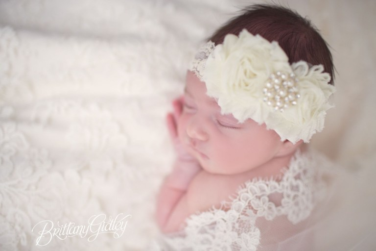 Newborn Family Photographer | Monique Lhullier | Newborn Wedding Dress | Newborn Photography