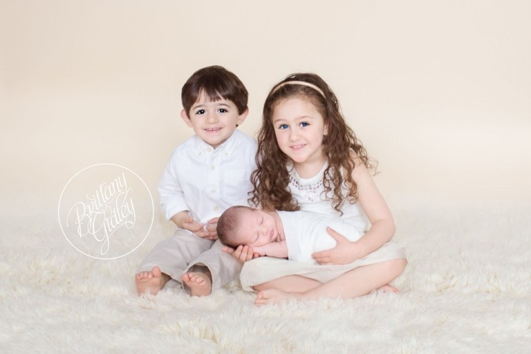 Newborn Photography | Cleveland, Ohio | Newborn Photo Shoot | Newborn Photographer | Baby Boy | Cream & White | Brittany Gidley Photography LLC