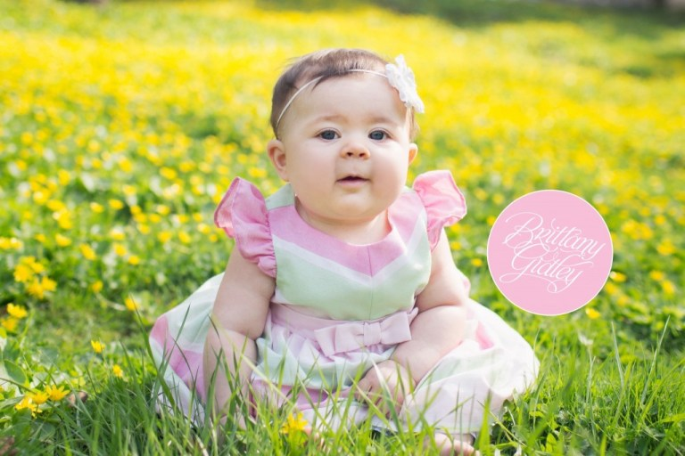 Baby | Flowers | Yellow | Pink | Start With The Best | Brittany Gidley Photography LLC | 6 Months