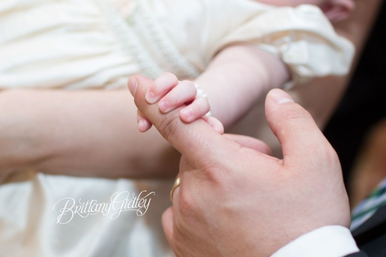 Little Sister | Baptism Photography | Catholic Church | Baptism | Start With The Best | Brittany Gidley Photography LLC