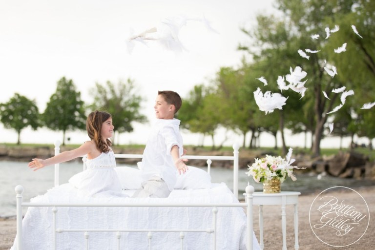 Cleveland Child Photographer   Dream Sessions   Brittany Gidley Photography LLC   Feathers   Bed on Beach   Fresh Floral   Whimsical Fun Bright   Photo Shoot Inspiration