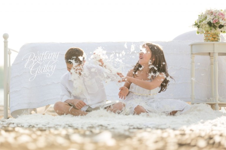 Cleveland Family Photographer   Dream Sessions   Brittany Gidley Photography LLC   Feathers   Bed on Beach   Fresh Floral   Whimsical Fun Bright