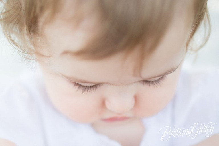 Edgewater Beach | 12 Month Baby Photo Shoot | Lashes | Cheeks | Baby Photography | Baby Photographer | Start With The Best | Brittany Gidley Photography LLC