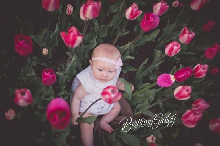Best Cleveland Baby Photography | Baby & Child Photography | Photographer | Tulips | Inspiration | 6 Months Old | Cleveland Ohio