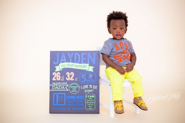 Cake Smash Photo Shoot | Jayden 12 Months | Baby Photography | Cleveland Ohio | Start With The Best | Brittany Gidley Photography LLC
