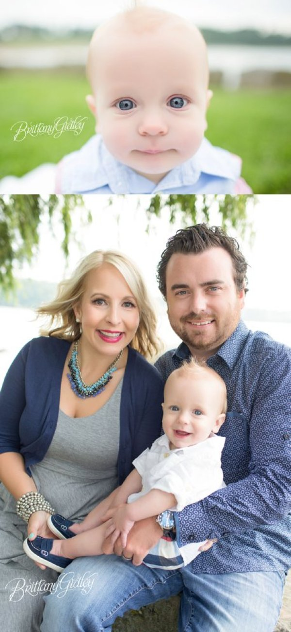 Baby Family Photography | Edgewater Park | Vintage | Start With The Best | Brittany Gidley Photography LLC