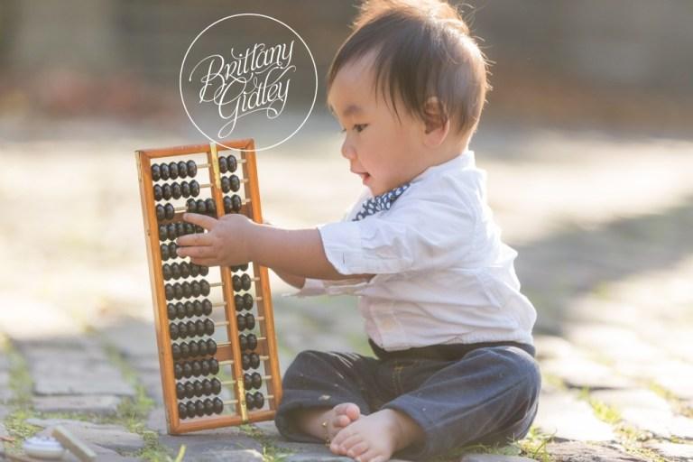 Zhua Zhou | Cleveland Cultural Gardens | Italian Garden | Baby Photographer | Baby Photography | Cake Smash