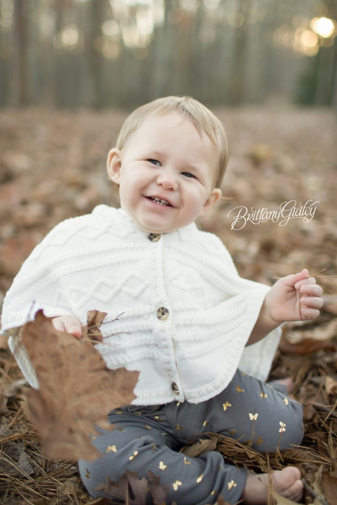 Atlanta Photographer | 12 Month Baby Girl | Fall | Happy