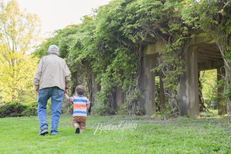 Cleveland Toddler Photographer | Memorial Day | Grandpa & Me