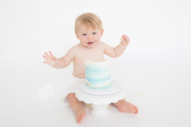 Cake Smash Photography | Henry 12 Months | Cleveland Cake Smash | Cleveland Photographer