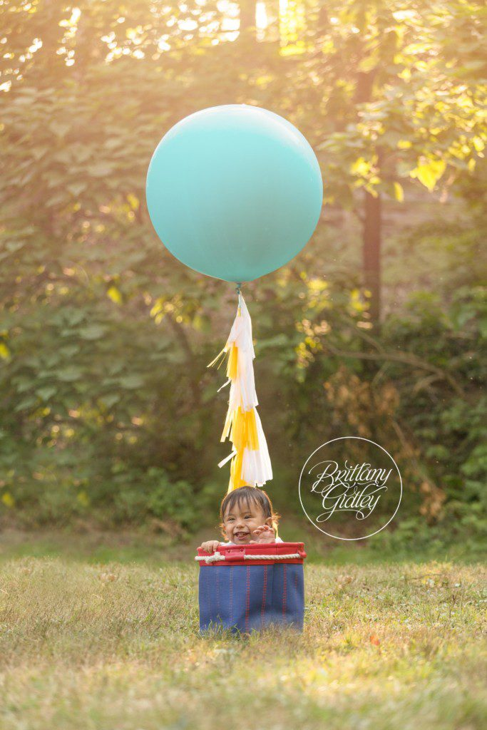 Hot Air Balloon | Baby Photography | Brittany Gidley Photography LLC