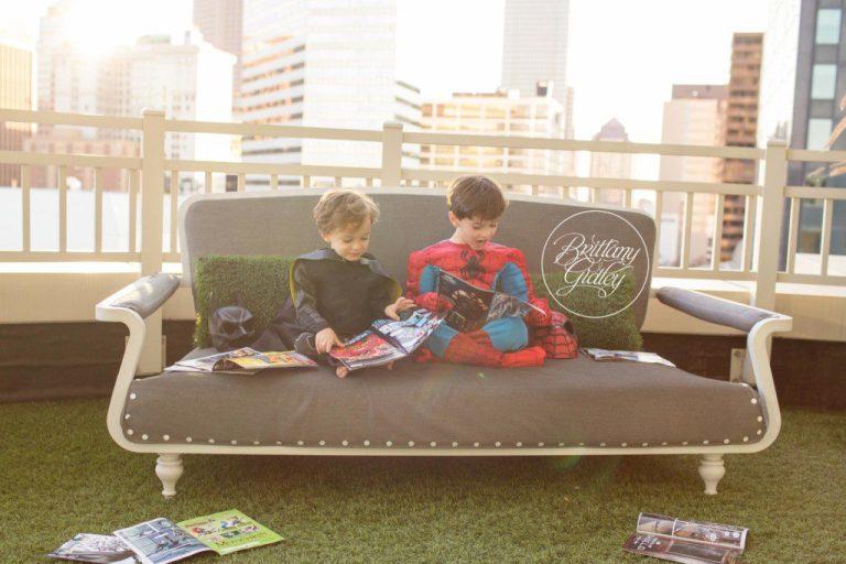 Batman and Spiderman | Superhero Training Camp | Start With The Best | Cleveland Ohio Child Photographer | Batman Photo Shoot | Spiderman Photo Shoot