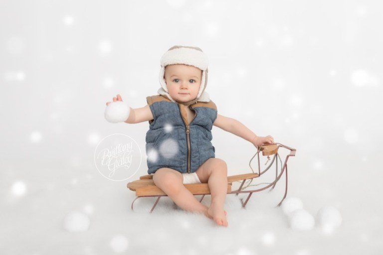 Baby Photography | Winter Baby | 12 Month Baby | Start With The Best | Baby Photography Snow
