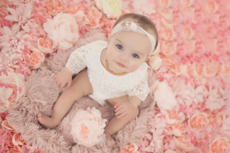 Baby Photography | Flower Wall