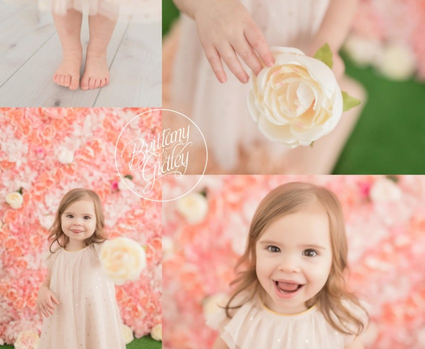 Flower Wall | Floral Dream Session | Start With The Best | Cleveland Baby Photographer | www.brittanygidley.com