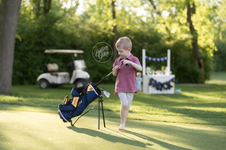Golf Course Photo Shoot | Tee Time Dream Session | Brittany Gidley Photography | Cleveland Ohio