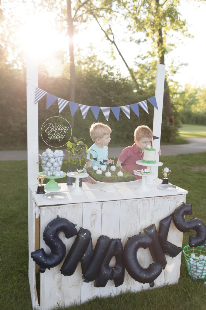Golf Ball Themed Party | Golf Photos | Golf Course Photo Shoot