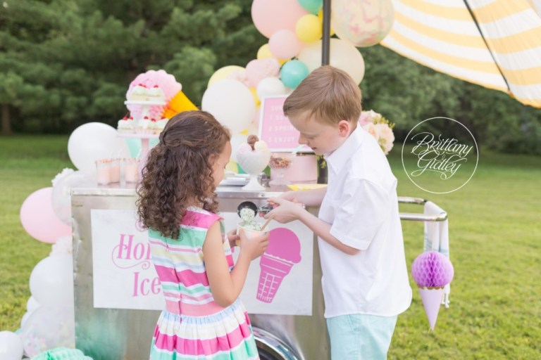 Ice Cream Party | Ice Cream Themed Photo Shoot | Dream Session | www.brittanygidley.com