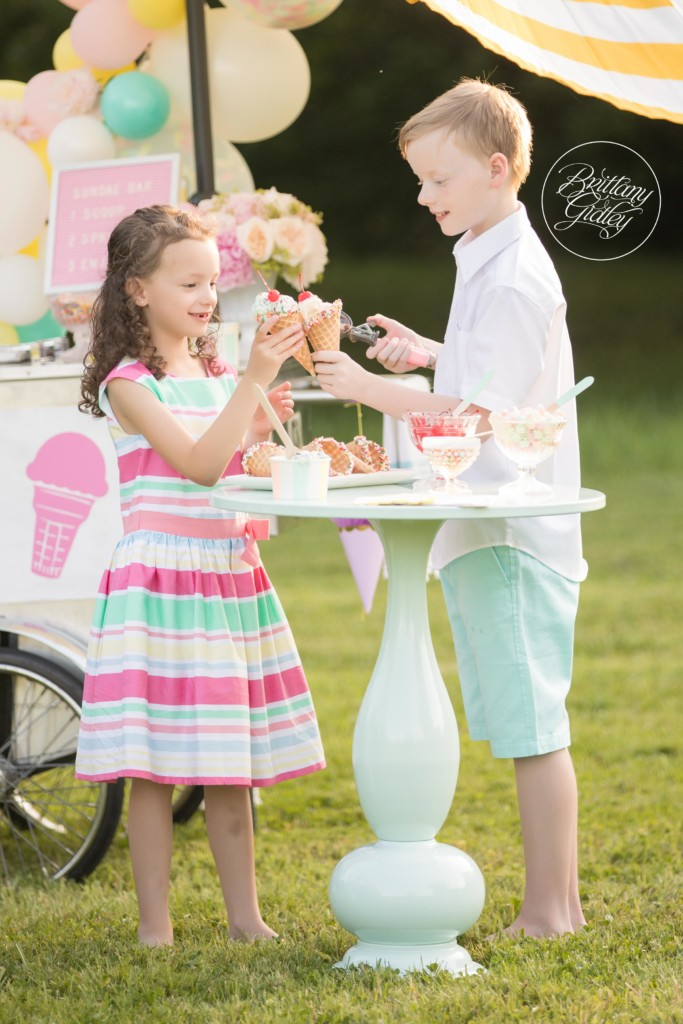 Best Ice Cream Party Photo Shoot | Ice Cream Themed Photography | Child Photographer | Dream Session | www.brittanygidley.com