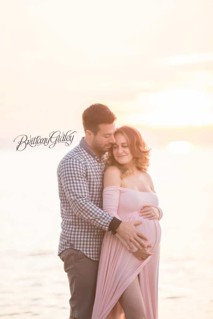Beach Pregnancy | Edgewater Beach | Pregnancy Beach Pictures | Maternity Photography Inspiration | Maternity Gown | Golden Hour | Cleveland Ohio Maternity Photographer | Cleveland Ohio Pregnancy Photographer