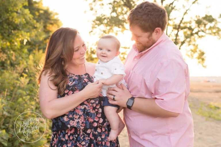 Edgewater Beach Photo Shoot | Cleveland Ohio | 6 Month Baby Photo Shoot On The Beach | Family Pictures