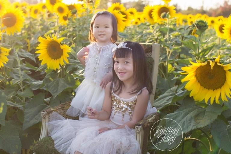 Bay Village Family Photographer | Prayers From Maria Sunflower Field | Sunflower Field Avon Ohio | Whimsical Child Photography