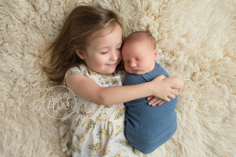 Avon Lake Newborn Photographer | Avon Lake Newborn Photography | Newborn Baby Boy | Newborn Baby | Sibling Baby Pose | Brittany Gidley Photography LLC | Avon Lake, Ohio