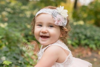 Brecksville Baby Photographer   Gabby 12 Months   Cleveland Cultural Gardens