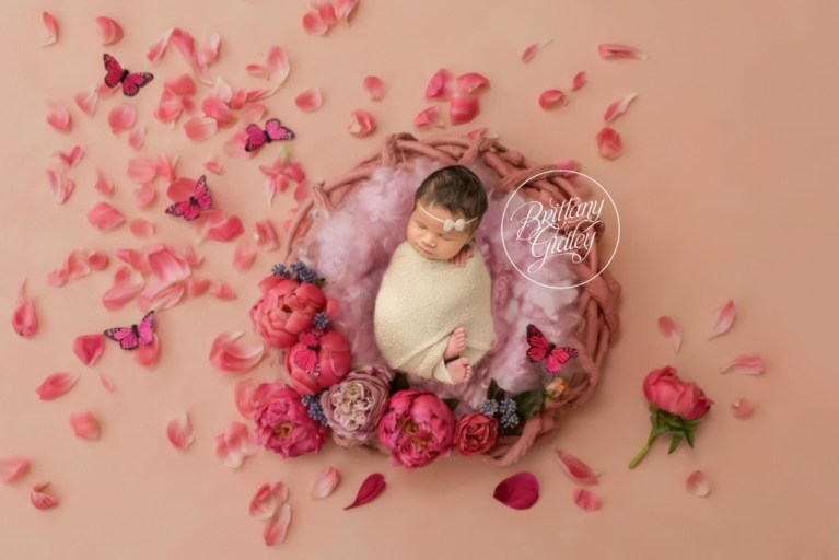 Pepper Pike Newborn Photographer | Butterfly Newborn Image | Start With The Best | In Home Newborn Session