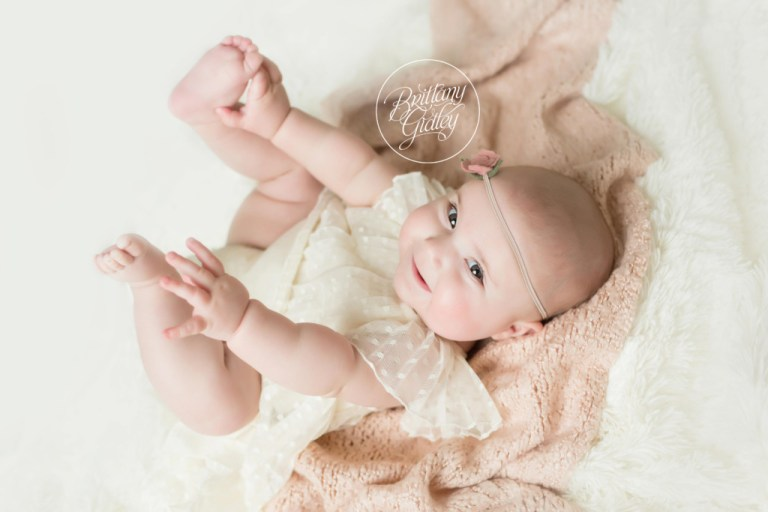 Baby Photography | Cleveland Baby Photography Studio | 6 Month Old Baby Milestone Photo Shoot