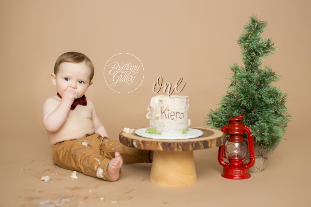 Lumberjack Cake Smash | Kieran 12 Months